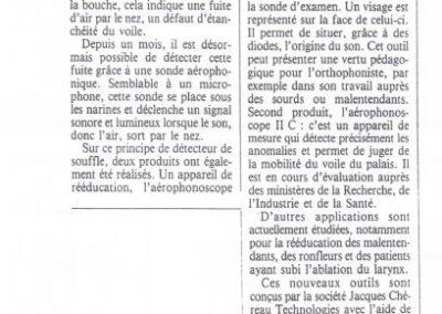 article Panorama du medecin 1993